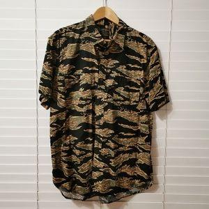 Lucky Brand Button Down Short Sleeve Shirt